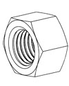 Metric Nylon Hex Nuts - DIN 34814